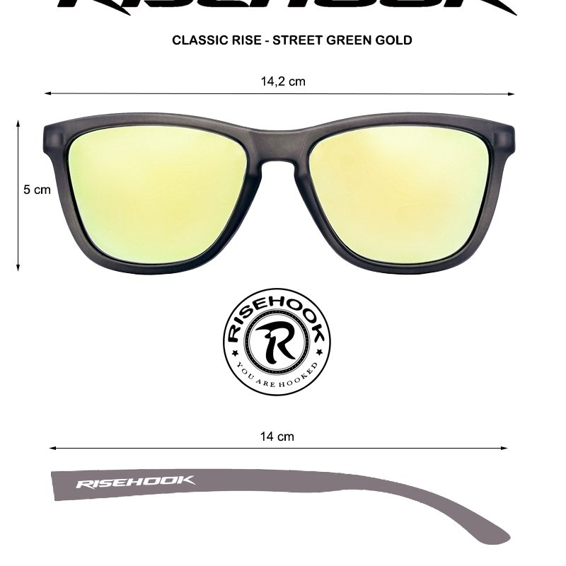 Medidas Classic Rise Street Green-Gold