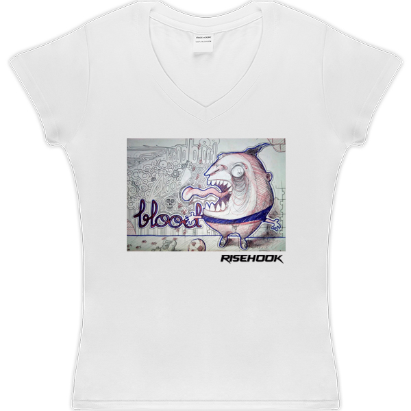 Camisetas de autor Cheer Blood blanca