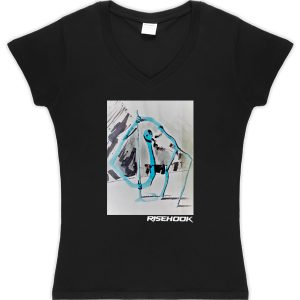 Camiseta de autor Cheer Bluestain negra