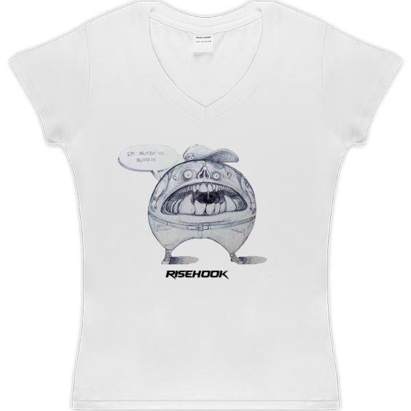 Camisetas de autor Cheerl Bloody blanca
