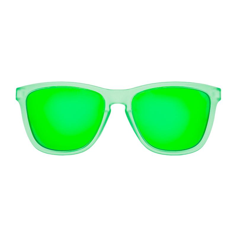 Gafa de sol polarizada lake silver mirror verde frontal