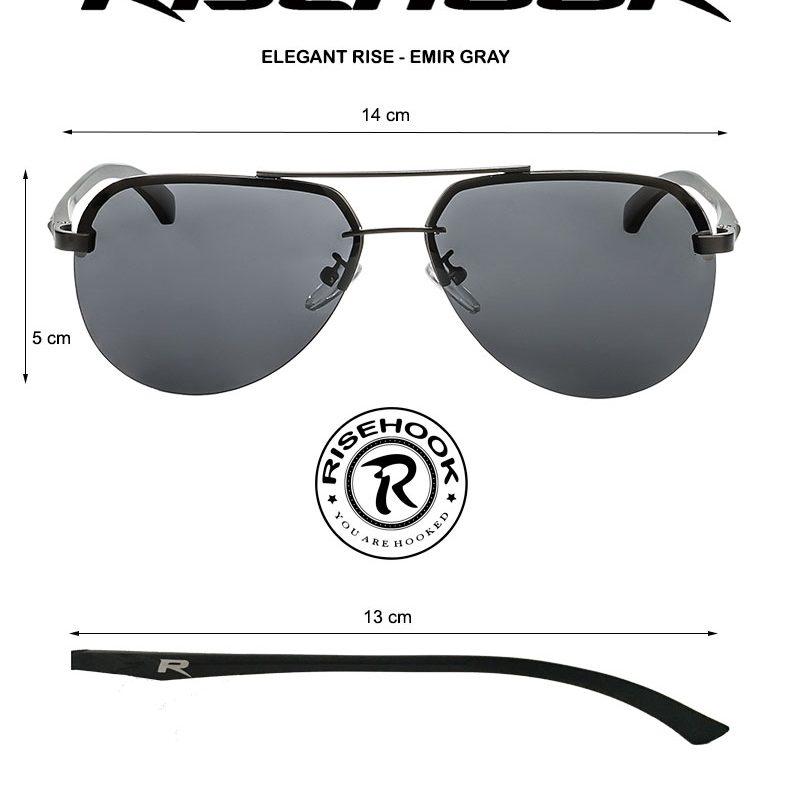 Gafas de sol polarizadas Medidas Elegant Rise Emir Gray